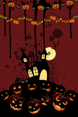 हैलोवीन कार्टून पोस्टर पृष्ठभूमि हैलोवीन हैलोवीन पार्टी भूत का प्रकाश कद्दू त्योहार पृष्ठभूमि छवि