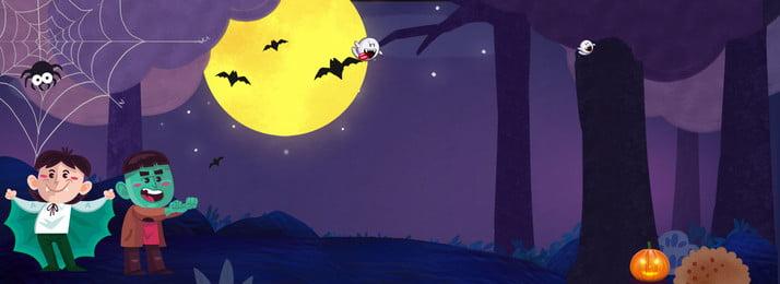 Хэллоуин мультфильм маленькая летучая мышь ужас фон Хэллоуин Тыквенный свет Западная культура Насыщенный фон культура Насыщенный Фоновое изображение