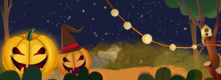 Хэллоуин тыква лампа фон западной культуры Хэллоуин Тыквенный свет Западная культура Насыщенный фон рисованной ночь Фоновое изображение