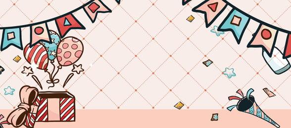 Bandeira de mão desenhada cartoon rosa Mão desenhada Caricatura Pink Banner Desenhada Caricatura Pink Imagem Do Plano De Fundo
