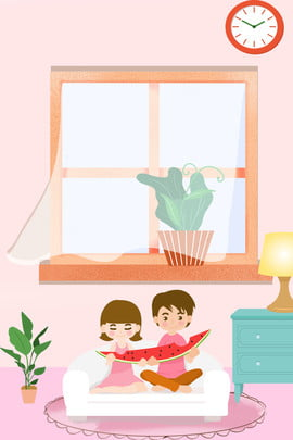 hand painted couple illustration fresh , Simple, Pink, Ad Background image