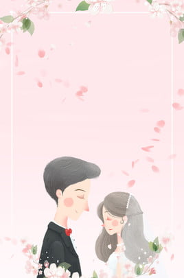 Hand Painted Couple Pink Float, Petal, Fresh, Ad, Background image