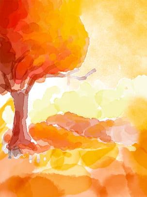 Vẽ tay màu nước lớn cây nền minh họa Vẽ tay Vẽ tay Màu Cách To Hình Nền