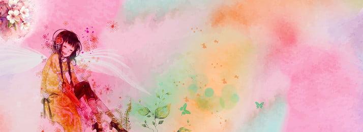 हाथ से तैयार सौंदर्य प्रसाधन पोस्टर हाथ खींचा हुआ मेकअप पोस्टर लड़की लाल इंकजेट फूल, खींचा, हाथ, हाथ से तैयार सौंदर्य प्रसाधन पोस्टर पृष्ठभूमि छवि