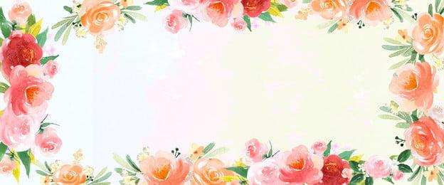 cartaz de literário de planta de flor aquarela de pintados à mão mão desenhada aquarela flor plant literário elegante poster, Mão, Cartaz De Literário De Planta De Flor Aquarela De Pintados à Mão, Desenhada Imagem de fundo