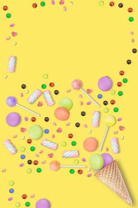 生日快樂生日派對糖果點心海報 生日快樂 生日 派對 糖果 點心 甜美 可愛 海報 , 生日快樂, 生日, 派對 背景圖片