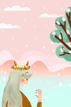 दिसंबर हैलो सुंदर बर्फ दृश्य इलस्ट्रेटर पोस्टर हैलो  दिसंबर। दिसंबर सुंदर चित्रकार शैली लड़की आकृति सीनरी पौधा कपड़ा त्वचा , की, देखभाल, उत्पाद पृष्ठभूमि छवि