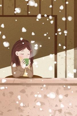 xin chào tháng mười hai tháng mười hai mùa đông , Văn Học, Cô Gái, Bông Tuyết Ảnh nền