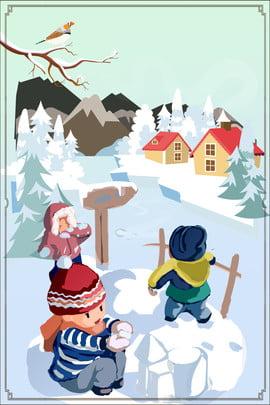 Tháng 11 Hello Kids Snowman Hand Drawn Creative Minh họa Poster gió Xin chào tháng Sáng 11 Phim Hình Nền