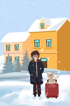 Tháng 11 Xin chào Hello Hand Drawn Snow Day Creative Poster Poster Xin chào tháng Lãm Bối 11 Hình Nền