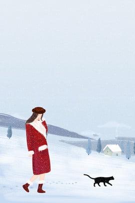 Áp phích chào mùa đông xin chào tháng , Đông, Vẽ, Tay Ảnh nền