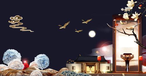ハイエンドの大気不動産の背景 ハイエンドの不動産の背景 シービューヴィラ 高級高級住宅 レイクビューフラワーベッド バンガロー 不動産のポスター 高層ビル 不動産 ヴィラ, ハイエンドの大気不動産の背景, ハイエンドの不動産の背景, シービューヴィラ 背景画像
