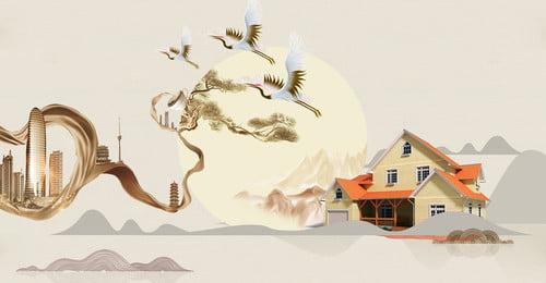 ハイエンドの大気不動産の背景 ハイエンドの不動産の背景 シービューヴィラ 高級高級住宅 レイクビューフラワーベッド バンガロー 不動産のポスター 高層ビル 不動産 ヴィラ 不動産, ハイエンドの不動産の背景, シービューヴィラ, 高級高級住宅 背景画像