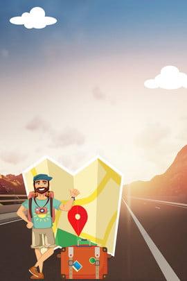 du lịch sáng tạo đi chơi tổng hợp nền poster quốc lộ du lịch du , Hợp, Ba, Lịch Ảnh nền