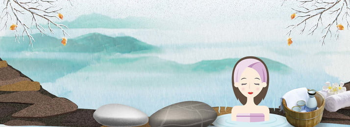 bong bóng spa phim hoạt hình nền poster suối nước nóng sức, Và, Nóng, Mùa Ảnh nền
