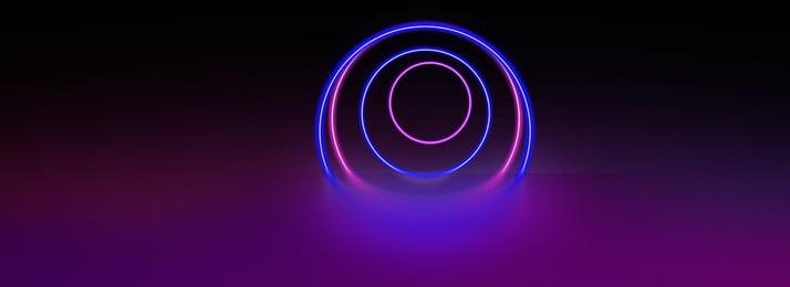 Đường tròn phát sáng neon biểu ngữ nền mát mẻ Đường chiếu sáng Neon Nền Ngữ Sáng Neon Hình Nền