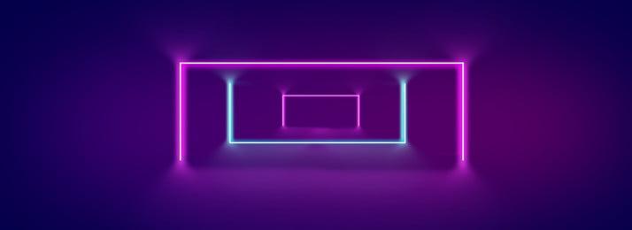 Thời trang cá tính Purple Gradient Hiệu ứng nền neon Đường chiếu sáng Neon Hiệu đèn Nền Mát Hình Nền