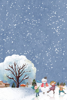 插畫風12月你好下雪海報 插畫風 12月你好 下雪 小孩 雪人 冬天 寒冷 海報 小寒 插畫風12月你好下雪海報 插畫風 12月你好背景圖庫