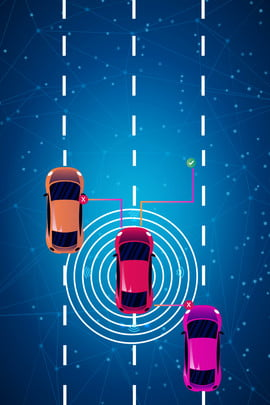 information technology unmanned smart car future car , Safety Technology, Autopilot, Driving Route Background image