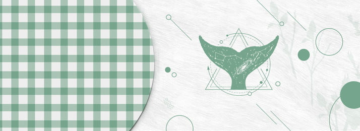 Ins Wind Light Green Lattice Simple, Graphics, Antlers, Nordic, Background image
