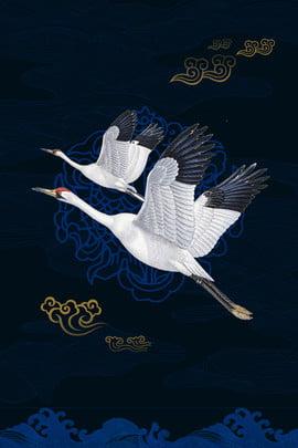 internationaler feenartiger kran der chinesischen art der den alten windplakathintergrund entfernt international chinesischer stil neuer chinese kranich fliegen alter , Stil, Neuer, International Hintergrundbild