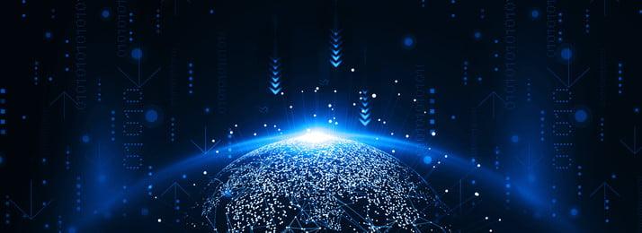 Internet Technology Business Blue Gradient Atmosphere, Big Data, Blue Technology, Technology Lines, Background image