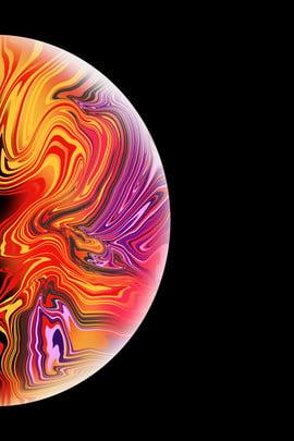 iphonexs सेब शैली सेब वॉलपेपर पेंट , सर्कल, सरल, प्राकृतिक तरल पदार्थ पृष्ठभूमि छवि