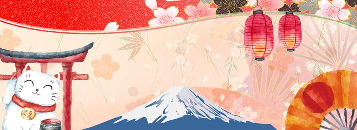 जापानी शैली और पवन हाथ से पोस्टर पृष्ठभूमि चित्रण जापानी शैली ब्रीज हाथ खींचा, फूल, भाग्यशाली, का पृष्ठभूमि छवि