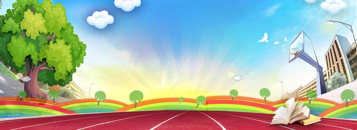 biểu ngữ poster phim hoạt hình mùa học loại trường nâng cấp, Ngôi, Phòng, Bị Ảnh nền