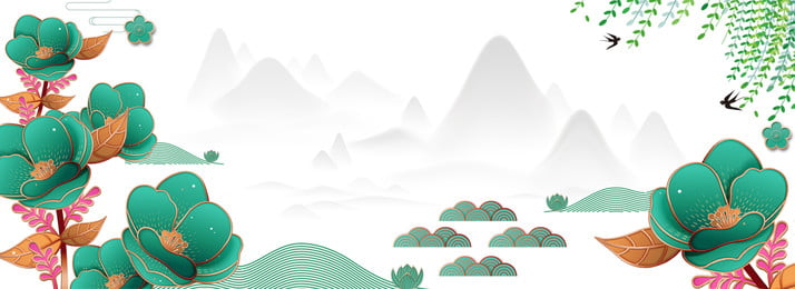 landscape beginning of spring china traditional, 24 Solar Terms, Poster, Ad Background image