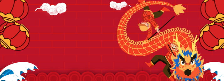 lantern festival the first month lion dance dragon lantern festival poster background, Lantern Festival Background, Chinese Style, 15th Background image