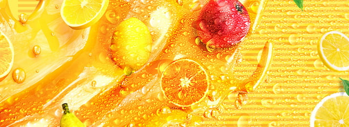 Lemon Fruit Fruit Juice Pattern, Graphics, Simple, Synthesis, Background image