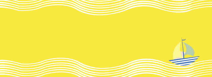 創意合成檸檬黃背景 檸檬黃 底紋 波浪 小船圖案 卡通 創意 合成 背景, 創意合成檸檬黃背景, 檸檬黃, 底紋 背景圖片