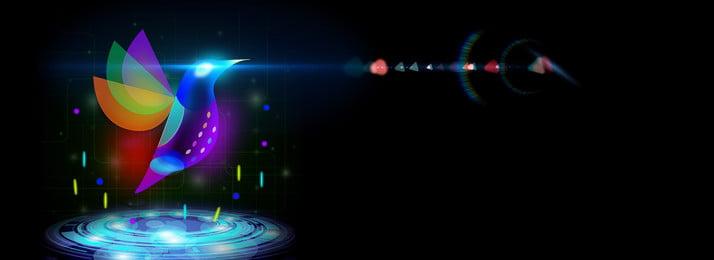 Colibri sens de la lumière respirant fond de bannière Léger et respirant Néon Fond Ray Lumière Image De Fond