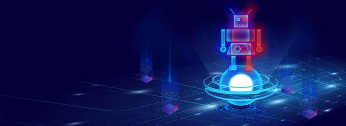 Fond de bannière respirante de sens de lumière de robot Léger et respirant Néon Lumineuse Le Et Image De Fond