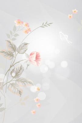 Xám tay vẽ hoa nền poster Hiệu ứng ánh Cảnh Áp Xám Hình Nền