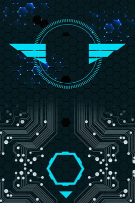 ラインテクノロジーサークルストレートポスターの背景 ライン技術 サークル 形 カラーマッチング 単純な 雰囲気 ビジネス psdレイヤリング ポスターの背景 , ライン技術, サークル, 形 背景画像
