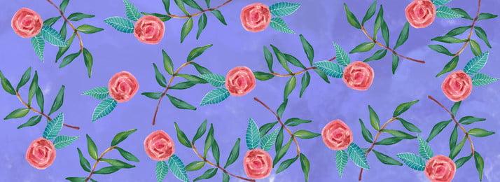 Literary Flowers Retro Background, Horizontal Map, Fresh, Simple, Background image
