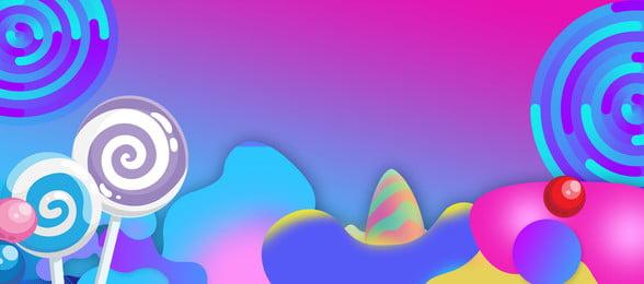 Lollipop Gradient Banner леденец постепенное изменение баннер конфеты Lollipop Gradient Banner Фоновое изображение