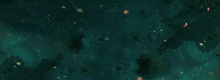 蓮の池テクスチャ手描きの背景イラスト ロータス 蓮の葉 ウキクサ 池 手描き テクスチャ 蓮の池 グリーン 新鮮な ナチュラル 静かな, ロータス, 蓮の葉, ウキクサ 背景画像