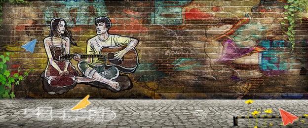 seni graffiti latar belakang wall series   cinta cinta zaman kanak kanak kecil seni sastera guitar bayangan, Seni Graffiti Latar Belakang Wall Series - Cinta, Kecil, Seni imej latar belakang