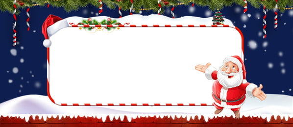 Lovely Fresh Christmas Santa Claus, Snowflake, Christmas Hat, Flowers And Plants, Background image