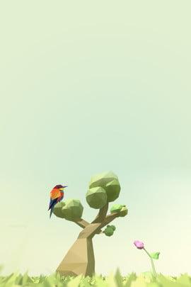 低ポリスタイル鳥緑の木のポスターの背景 低い ポリ スタイル 鳥 キツツキ クリエイティブ 単純な グリーン 緑の木 ポスター バックグラウンド , 低い, ポリ, スタイル 背景画像