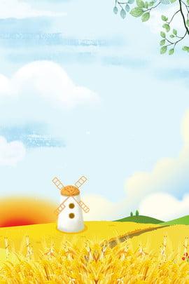 Golden Mang Lúa mì quảng cáo trưởng thành Mang nền Cánh đồng Quảng Phích Mang Hình Nền