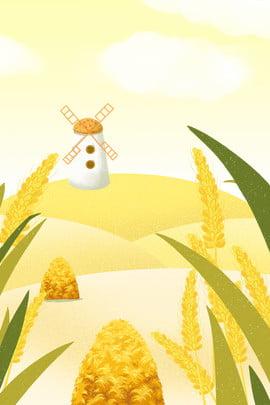 Áp phích lúa mì Golden Mang Mang nền Cánh đồng Gió Đống Học Hình Nền