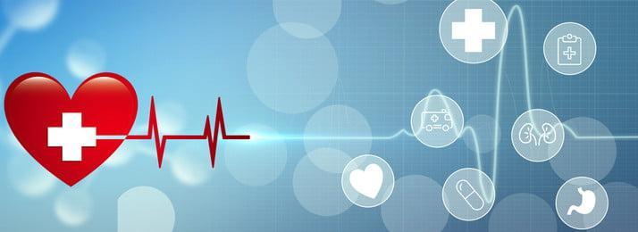 medical medical element red heart red cross, Electrocardiogram, Medical Icon, Medical Element Background image