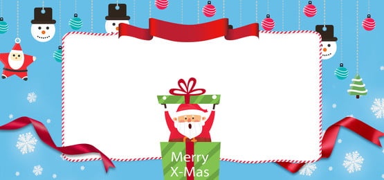 Giáng sinh vui vẻ dễ thương phim hoạt hình Santa Banner Giáng sinh vui Giáng Sinh Vui Hình Nền