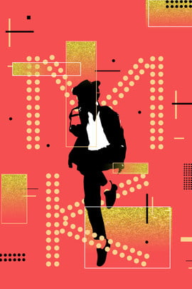 michael singer jackson star walk , Michael Jacksons Birthday, Orange Background, Simple Lines Background image