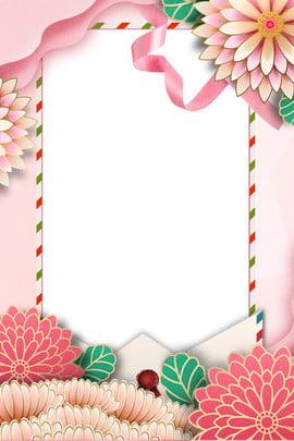 pengiklanan 3d floral hari ibu pink yang mikroskopik mikroskopik merah jambu hari ibu bunga , 3d, 3d, Sampul imej latar belakang