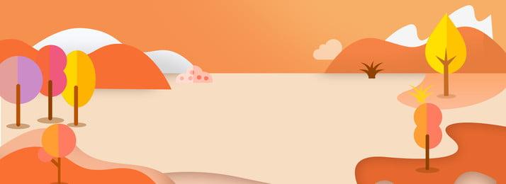 minimalism autumn warm color literary, Poster, Banner, Minimalism Background image